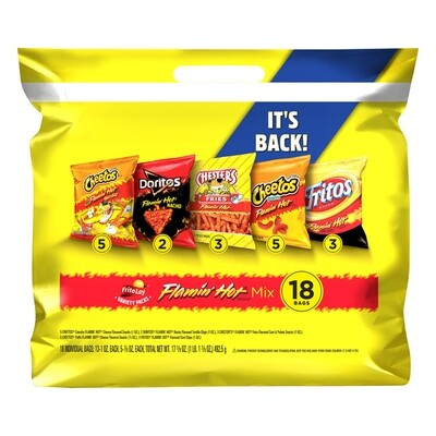 Frito-Lay Flamin' Mix Variety Pack (18 ct)