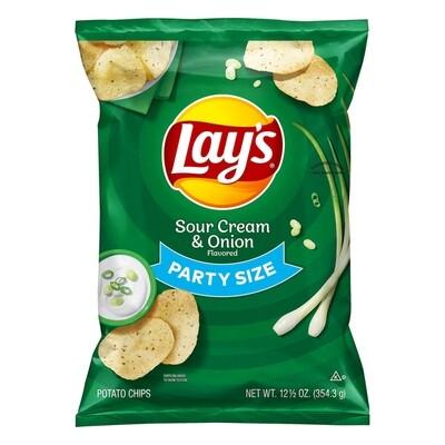 Lay's Potato Chips Sour Cream Party Size (12.5 oz bag)