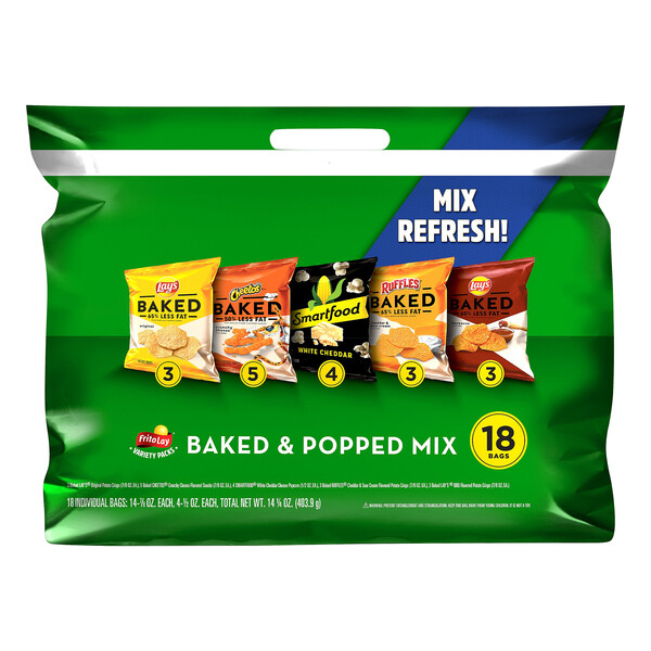 Frito-Lay Baked and Popped Variety Pack (18 ct - 14.2 oz)