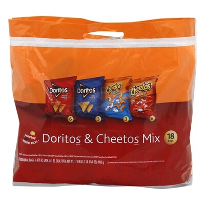 Frito-Lay Doritos & Cheetos Mix Variety Pack (18 ct)