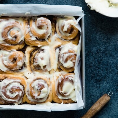 Butter Crust Bakery Cream Cheese Frosted Cinnamon Rolls