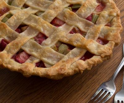 Butter Crust Bakery Strawberry Rhubarb Pie