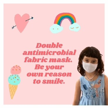 School Kids Most Favorite M😷sks - Kids love,  Moms🙂 approved - Liquid Repellent Double Antimicrobial Layers  Reusable Kids Mask