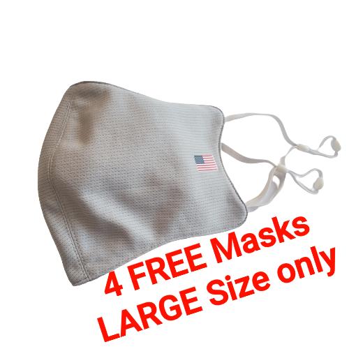 🤩 BUY 10 GET 4 FREE  -  M1 USA   🎏🎊 Grey 🎏 🎊   LARGE Size