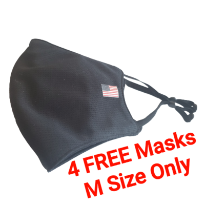 4 FREE WHEN BUY 10 M1 USA  Solid 😎 Black MEDIUM Only