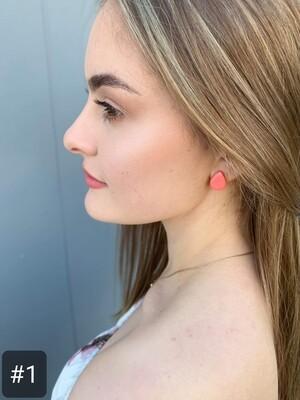 Stud Clay Earring - 'Tear Drop'