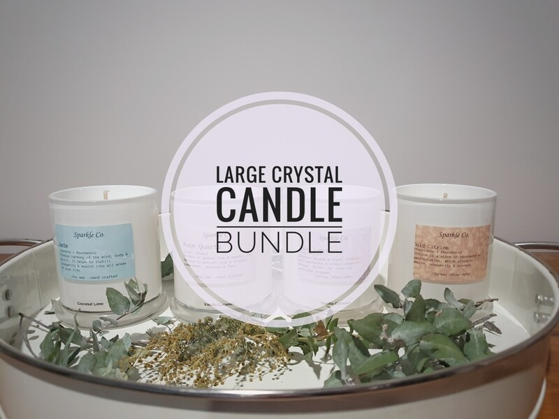 Large Crystal Candle Bundle