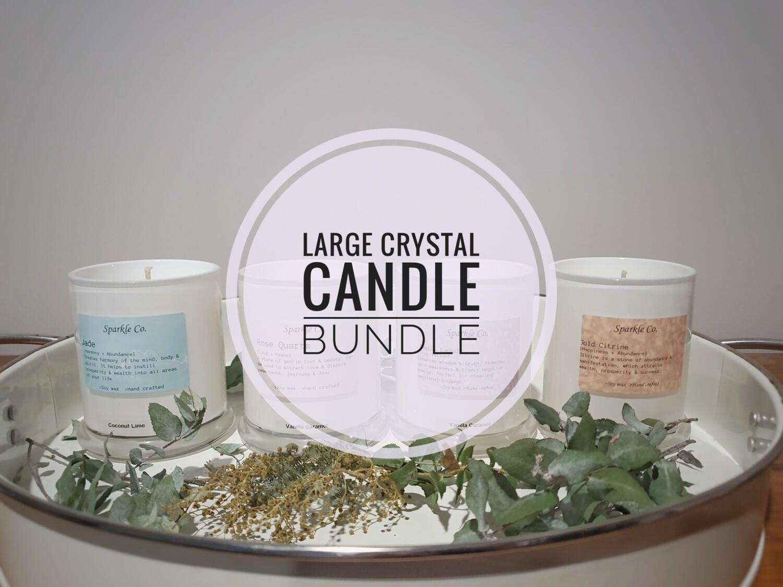 Large Crystal Candle Bundle