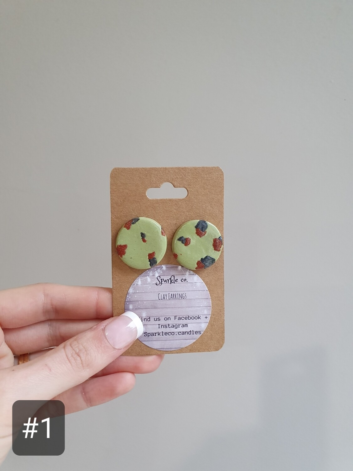 Stud Clay Earring - 'Statement'
