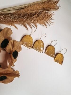 YELLOW statement earrings
