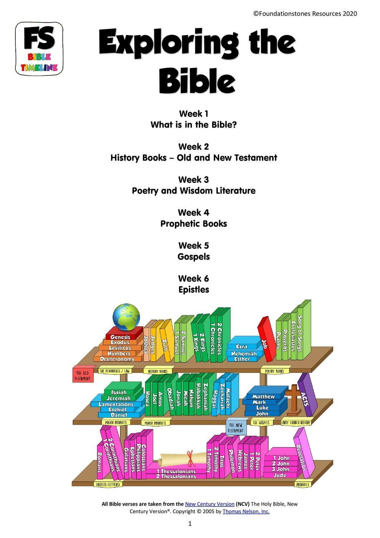 Exploring the Bible - 6 week series
