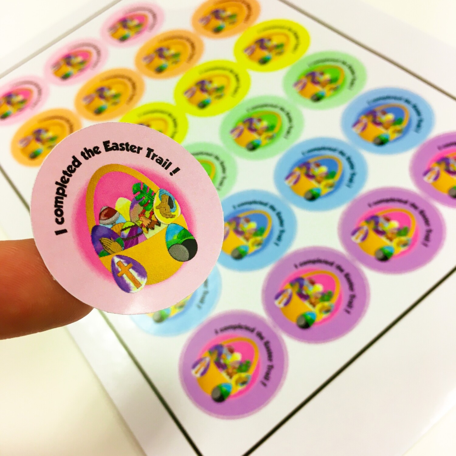 Easter Trail Stickers (Pack of 96)
