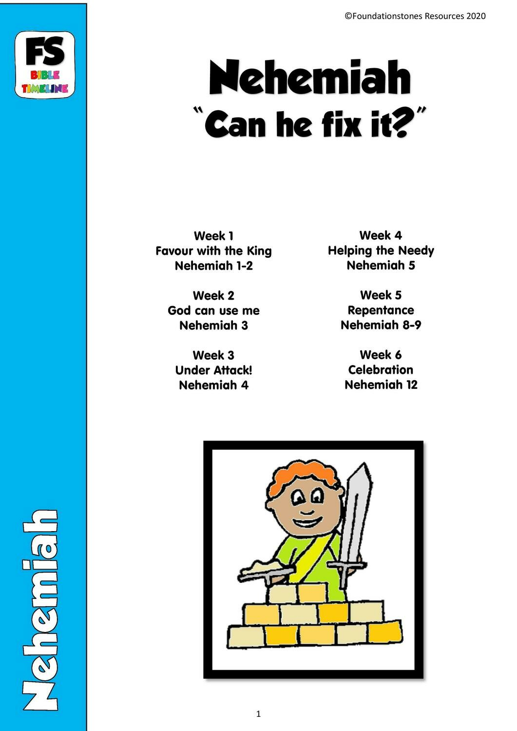 """Nehemiah: """"Can he fix it?"""" - 9 week series and Faith at Home sheets"""