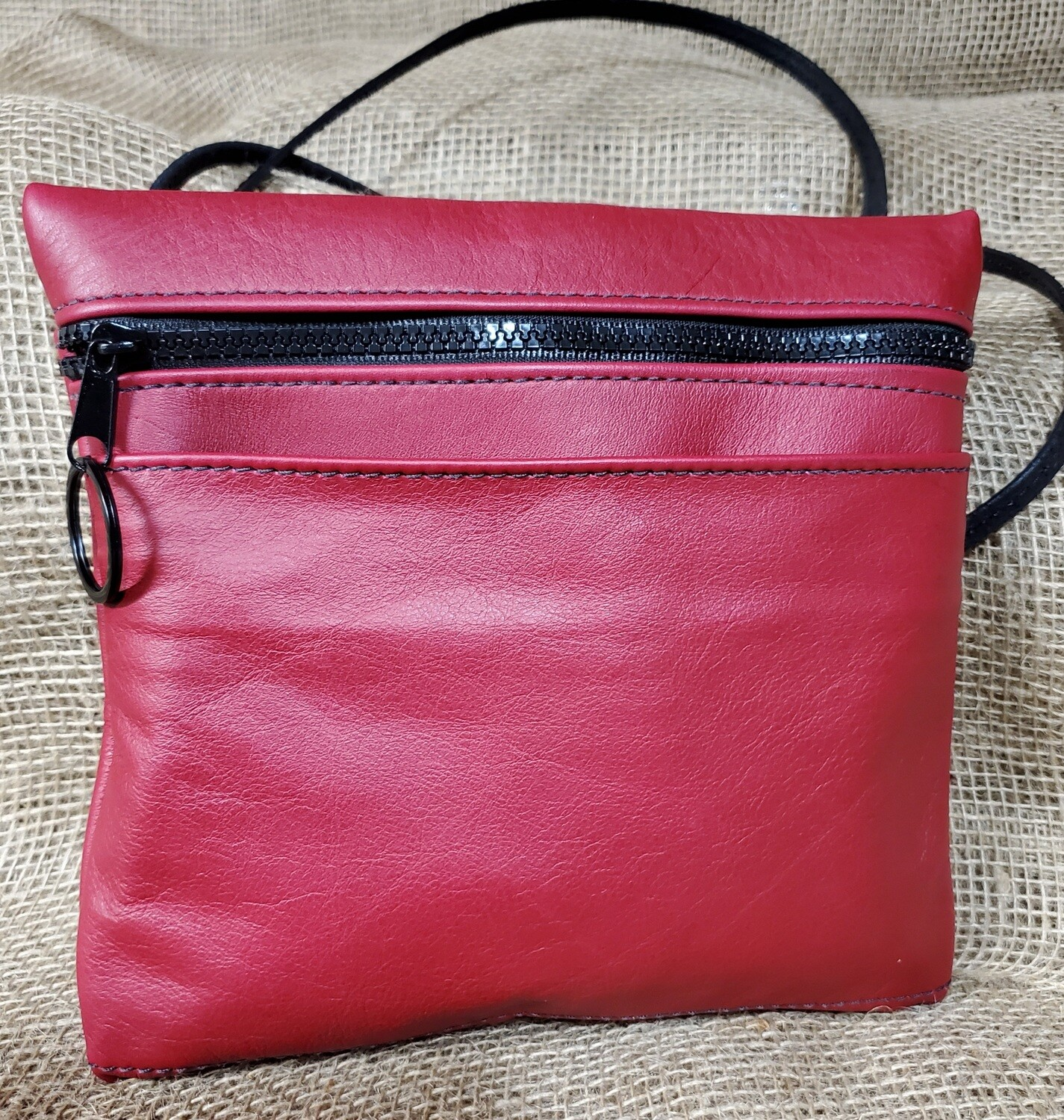 "Red Crossbody Purse ""Valentine"""