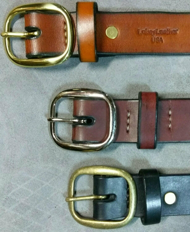 100% Cowhide Belt, Choose Stock Item or CREATE one!