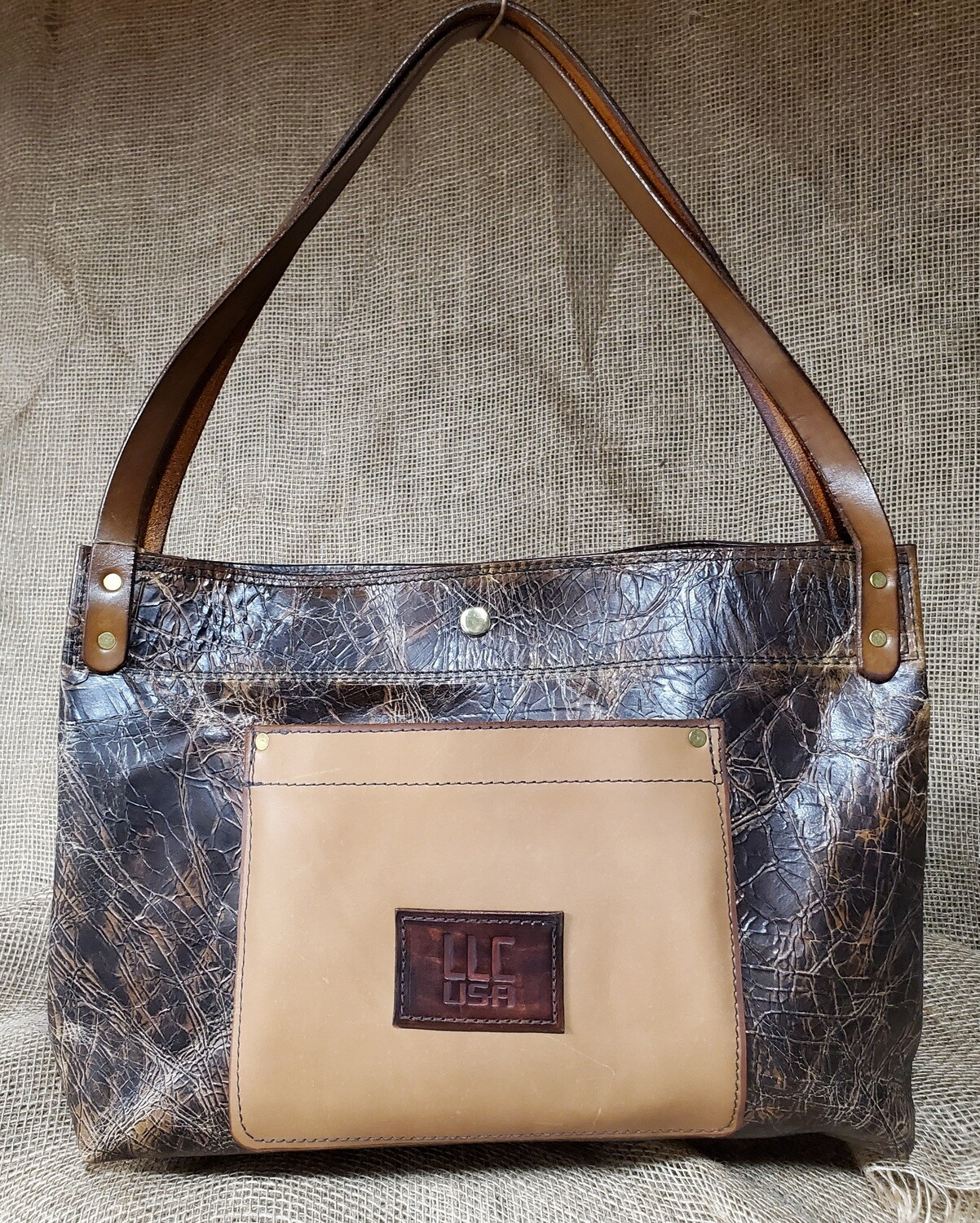 """CRACKED"" Carpetbagger Style Purse"