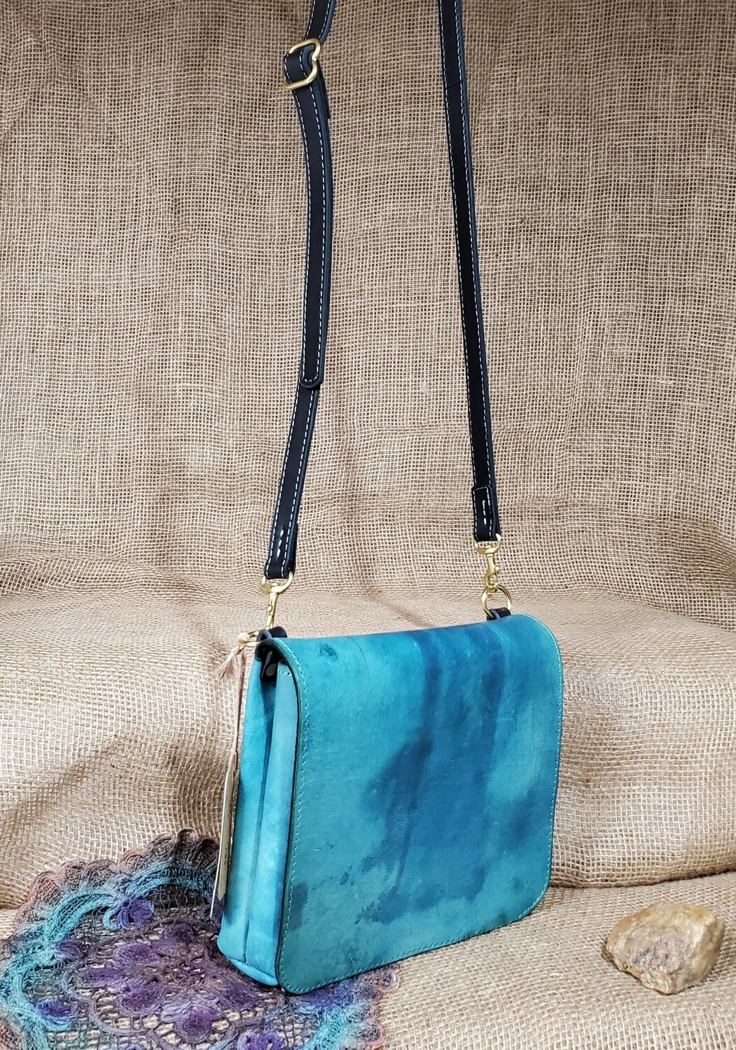 """Turquoise Saddle"" Cross Body"