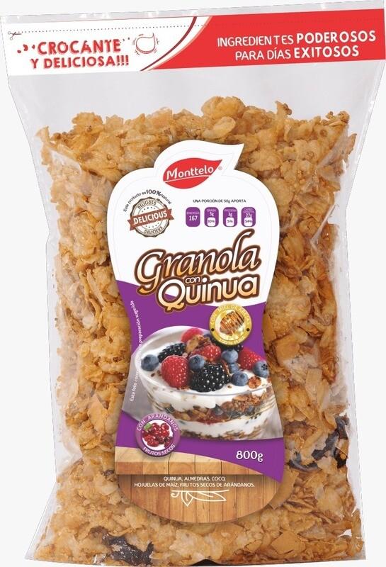 Granola Monttelo Quinua con arandanos x 800g