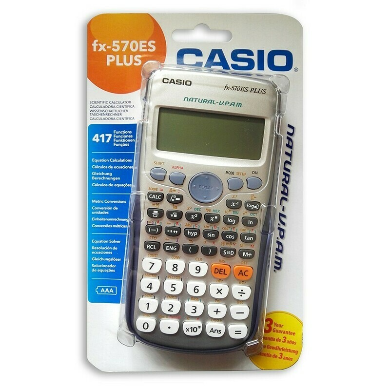 CALCOLATRICE SCIENTIFICA CASIO FX 570 ES PLUS  417 FUNZ.