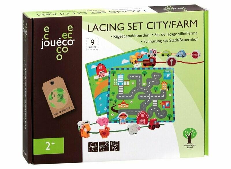 LACING SET CITY/FARM IN LEGNO