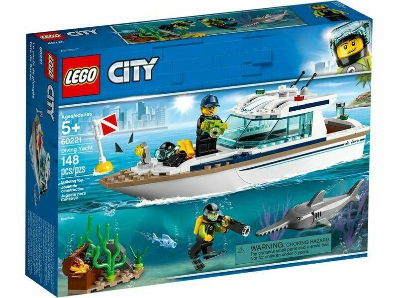 LEGO CITY POLIZIA -YACHT PER IMMERSIONI