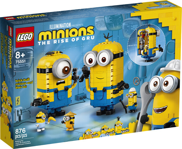LEGO MINIONS - PERSONAGGI MINIONS E LA LORO TANA