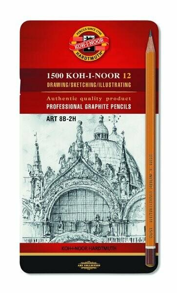SET 12 MATITE KOHINOOR ART 8B-2H