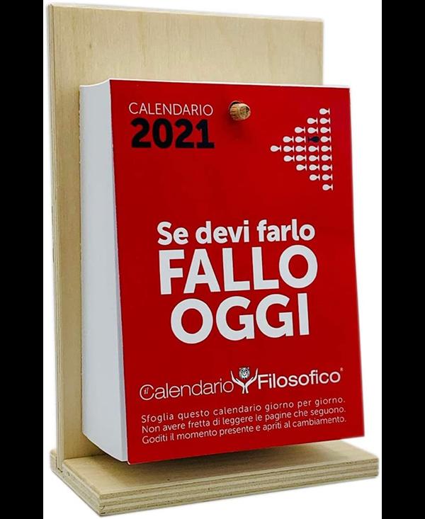 CALENDARIO FILOSOFICO 2021 CON SUPPORTO IN LEGNO