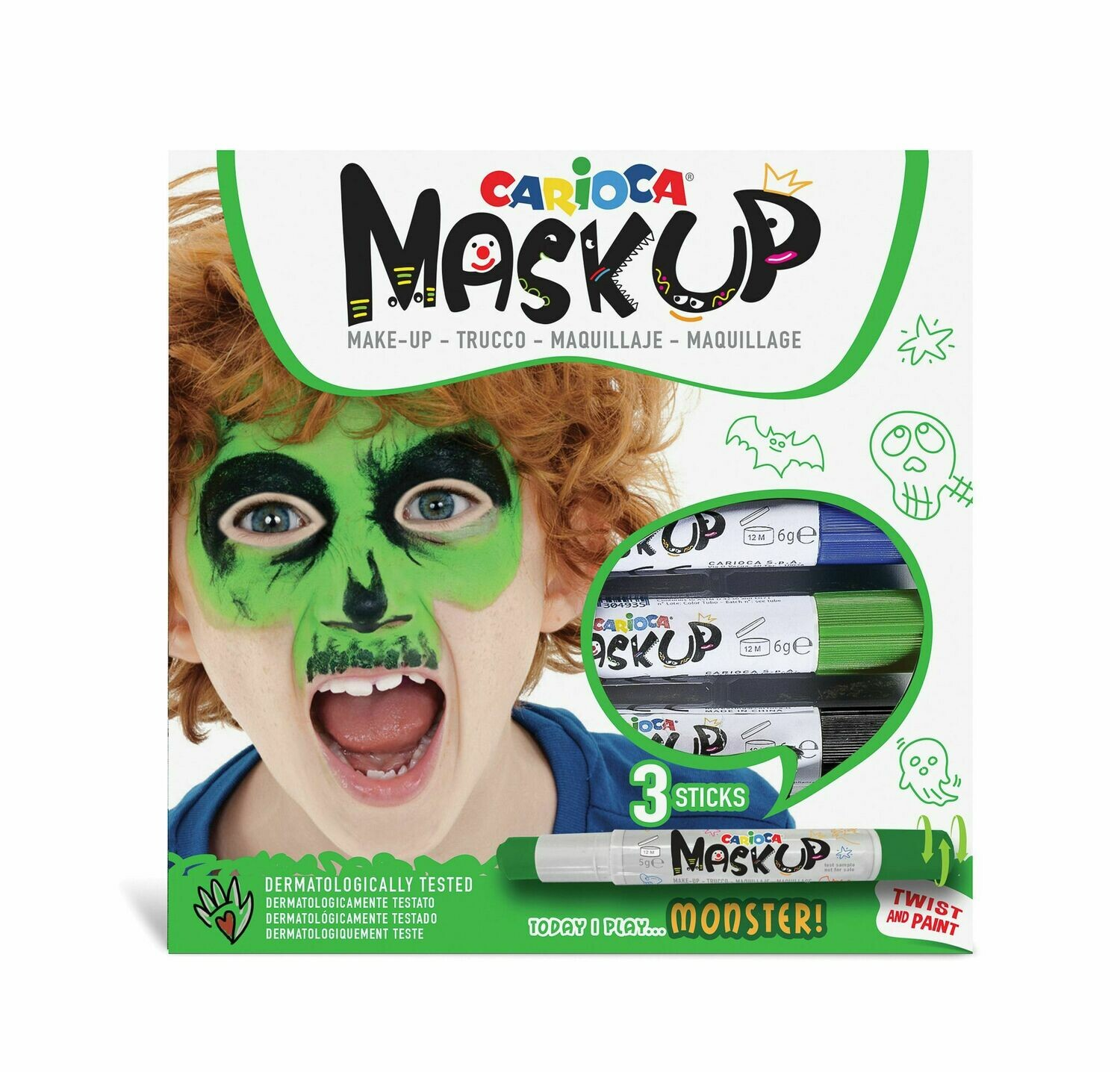 MASK UP TRUCCO BAMBINI CARIOCA MONSTER