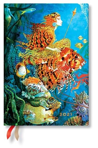 AGENDA PAPERBLANKS 2021 GIORNALIERA Sea Fantasies 13X18