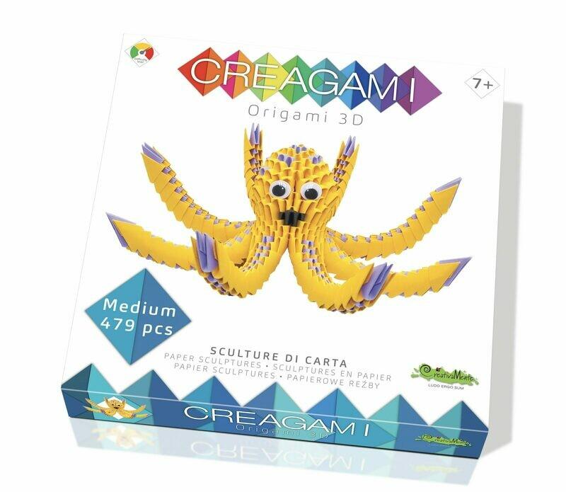 CREAGAMI ORIGAMI 3D POLPO MEDIUM 479 PZ