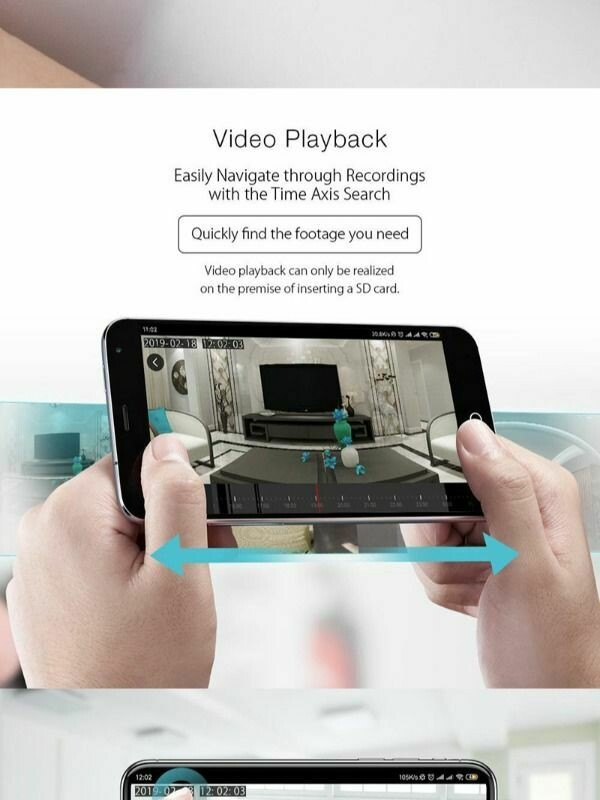 Smart Wifi IP Camera baby camera remote control by mobile app voice control by Alexa Google Home