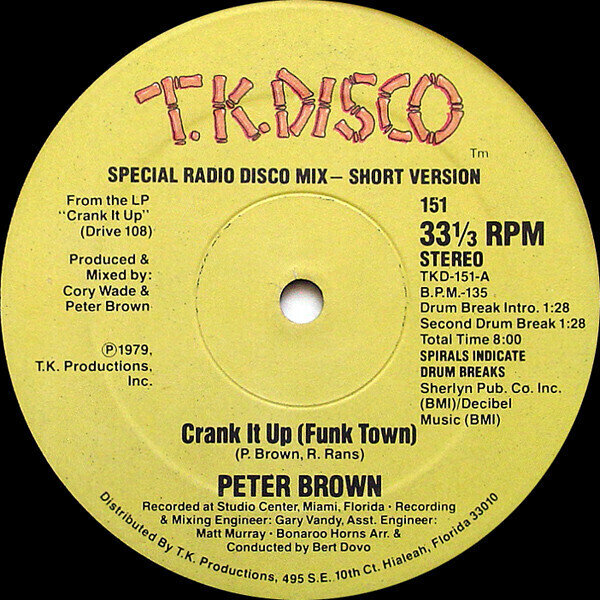 Peter Brown (2) – Crank It Up (Funk Town)