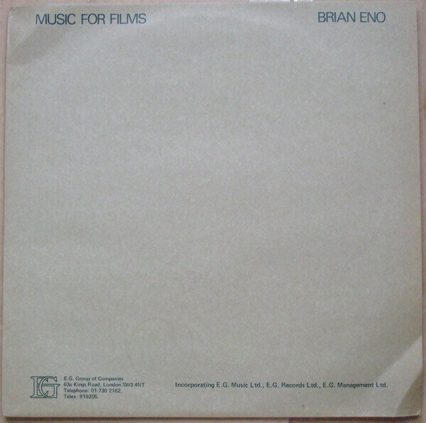 Brian Eno – Music For Films