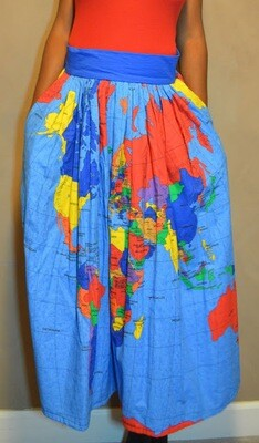 MAP OF THE WORLD SKIRT maxi