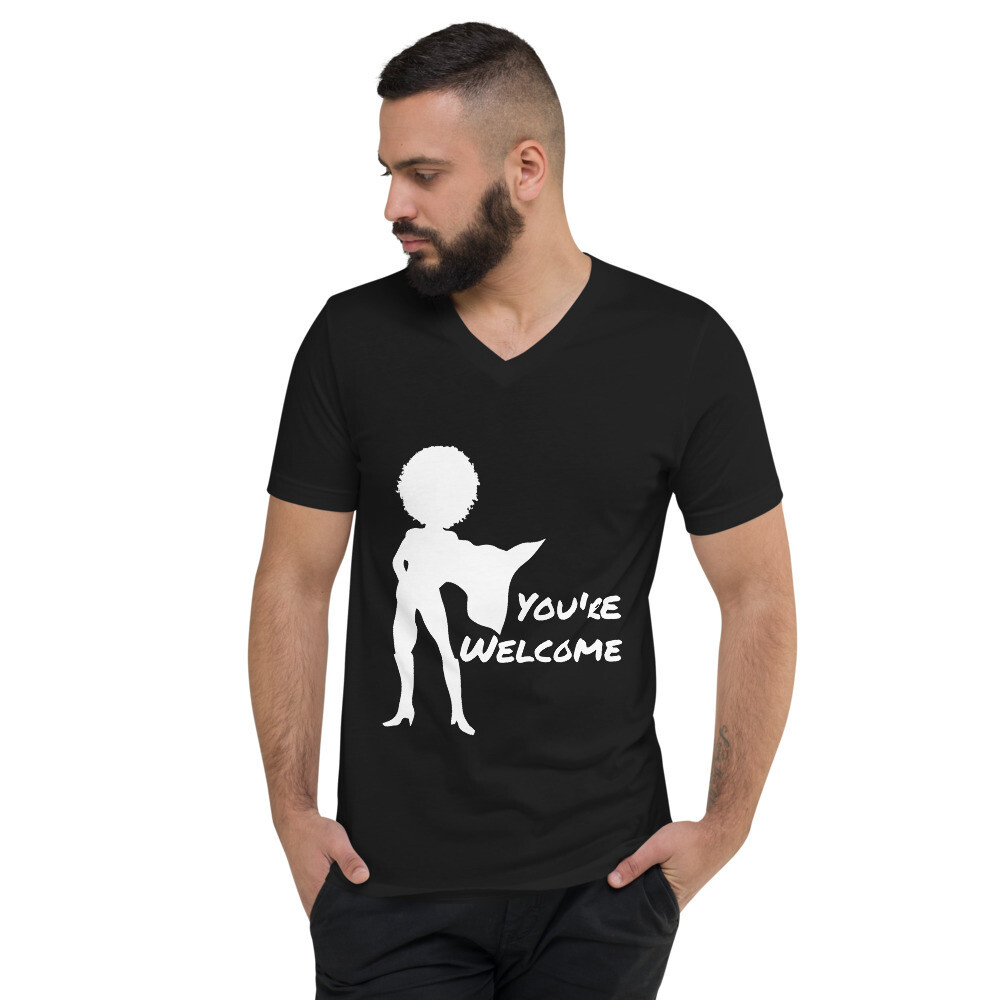 You're Welcome Unisex Short Sleeve V-Neck T-Shirt