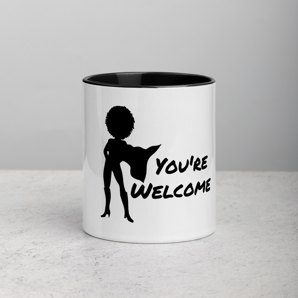 You're Welcome Mug with Color Inside