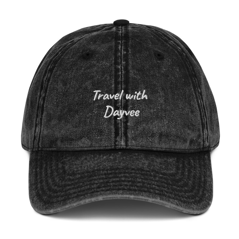 Travel with Dayvee Vintage Cotton Twill Cap