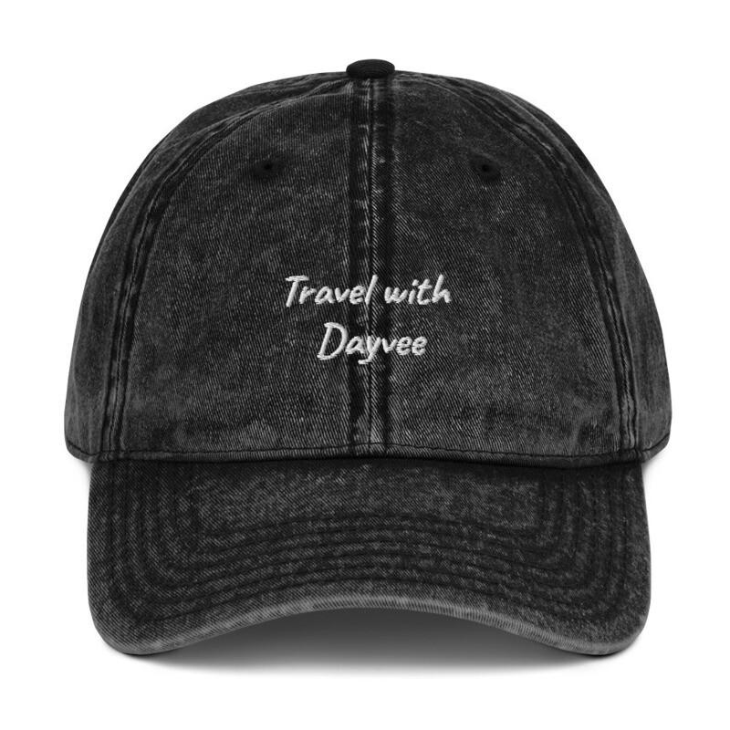 Travel with Dayvee Vintage Cotton Twill Cap