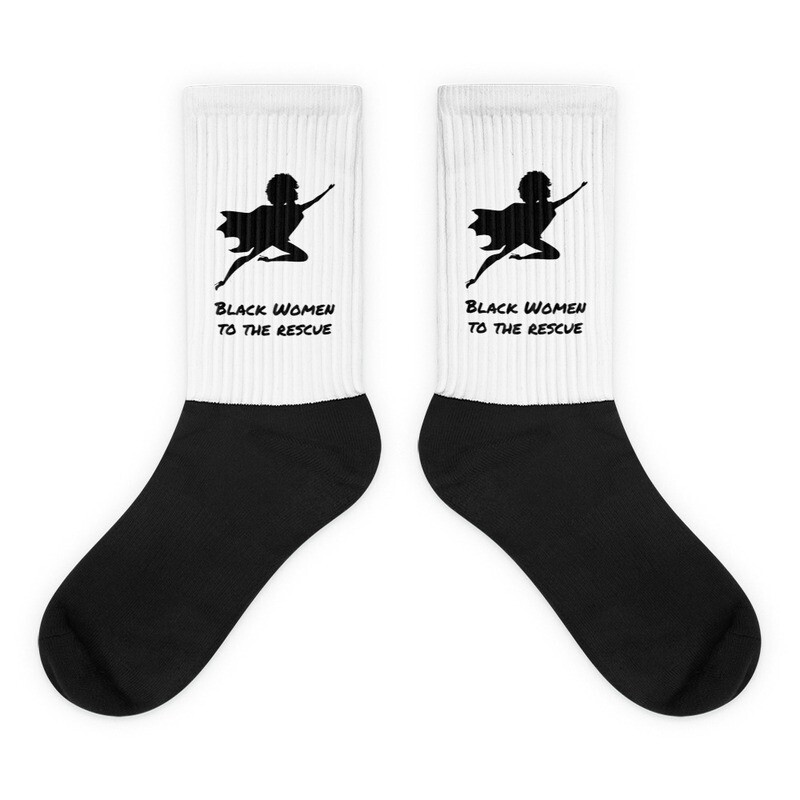 Black Women to the Rescue Socks