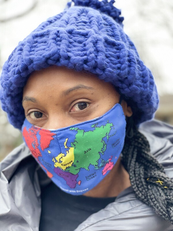 MAP OF THE WORLD face mask