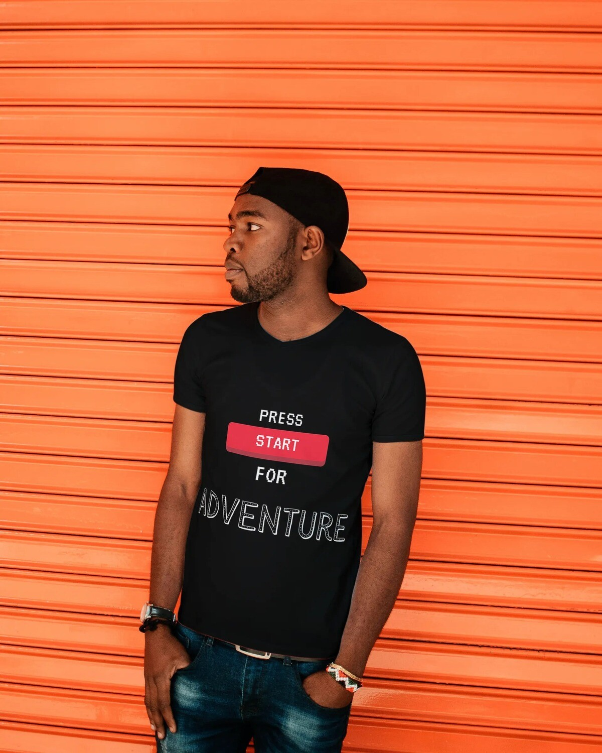 Press Start for Adventure! Short-Sleeve Unisex T-Shirt