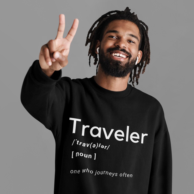 Traveler Jumbo Text Sweatshirt