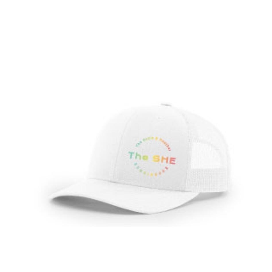 The SHE Cap White Ombre