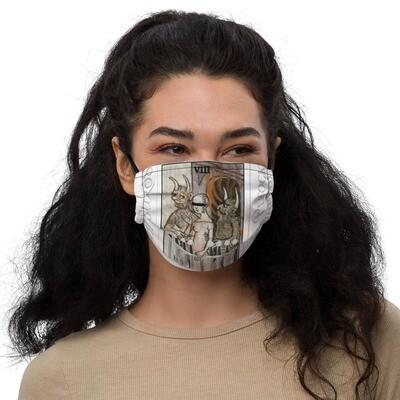 Premium face mask - Tarot; Eight of Swords