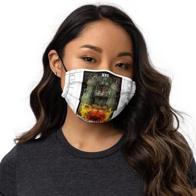 Premium face mask - Tarot; The Tower