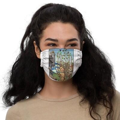 Premium face mask - Tarot; Five of Wands