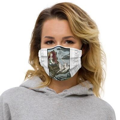 Premium face mask - Tarot; The Chariot