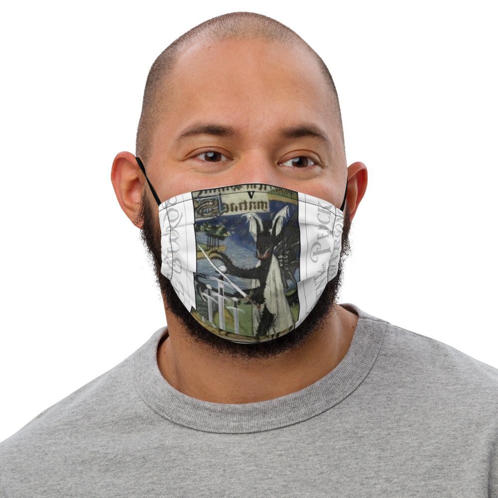 Premium face mask - Tarot; Five of Swords