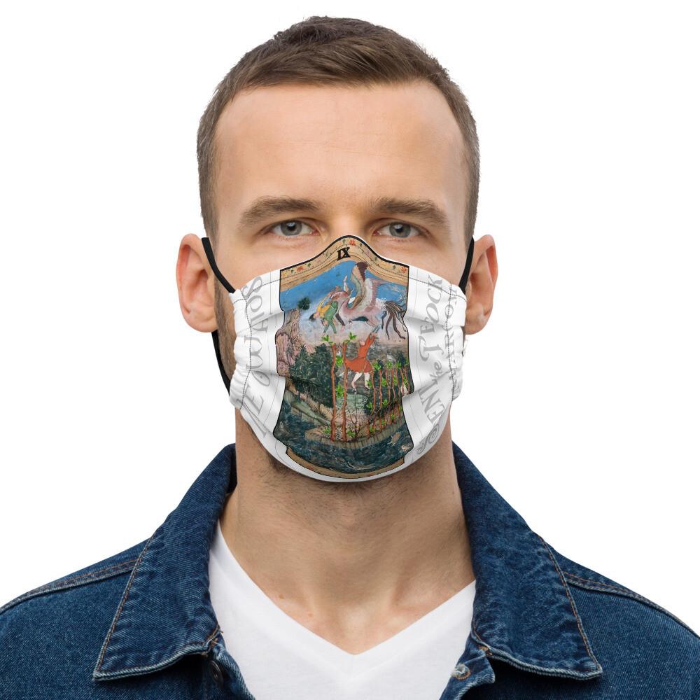 Premium face mask - Tarot; Nine of Wands